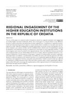 prikaz prve stranice dokumenta Regional Engagement of the Higher Education Institutions in the Republic of Croatia
