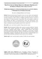 prikaz prve stranice dokumenta Sportski objekti u funkciji podizanja kvalitete sporta u Požeško-slavonskoj županiji
