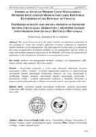 prikaz prve stranice dokumenta Empirijsko istraživanje obujma primjene suvremenih metoda upravljanja troškovima u srednjim i velikim industrijskim poduzećima u Republici Hrvatskoj