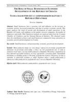 prikaz prve stranice dokumenta Uloga malih poduzeća u gospodarskom razvoju u Republici Hrvatskoj