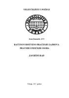 prikaz prve stranice dokumenta RAČUNOVODSTVENO PRAĆENJE ZAJMOVA PRAVNIH I FIZIČKIH OSOBA