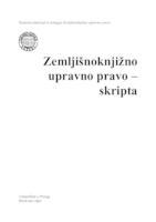 prikaz prve stranice dokumenta Zemljišnoknjižno upravno pravo : skripta