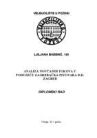 prikaz prve stranice dokumenta ANALIZA NOVČANIH TOKOVA U PODUZEĆU ZAGREBAČKA PIVOVARA D.D. ZAGREB
